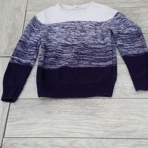 Blue and white boy's sweater sz 6-8yr